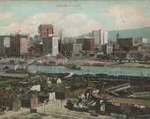 Antique 1909 Postcard of Old Pittsburgh Pennsylvania Once Known as Smokey City