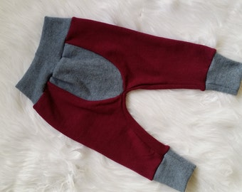 Ready to Ship - Merino Wool Longies - Wool diaper cover - Nappy Cover - Wool Upcycled baby gift.