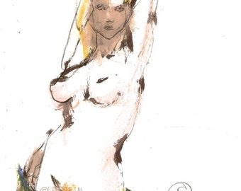 Original Sketch Female Nude sketch