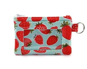 Strawberries ID Wallet / Keychain ID Wallet / ID Holder