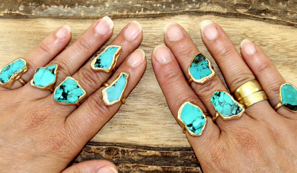 Turquoise jewelry trends Etsy