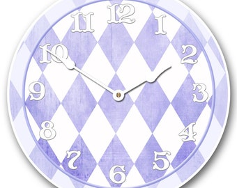 Harlequin Purple Wall Clock