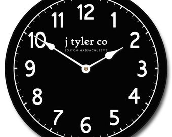 New Traditional Black Wall Clock
