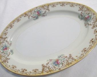 Vintage Royal Chester China Oval Serving Platter 12 inch