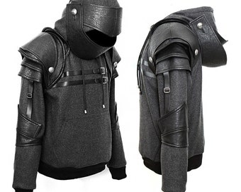 Knight Hoodie-Fleece Hoodie-Costume Hoodie-Hooded Sweatshirt-Medieval Costume-Knight Costume-Game costume/Warrior Duncan knight hoodie