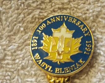 "Collector Souvenir Spoon 100th Anniversary Wasyl Eleniak 1891-1991 4 1/4"" SP196"