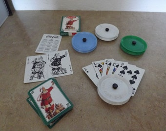 E Z Grip Card Holders and Coca Cola Playing Cards