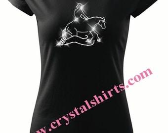 Reining Horse rhinestone, bling T-shirt