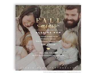 Fall Mini Session Digital Marketing Board Template for Photographers - FALL MODERN MINIS 3 - 1564