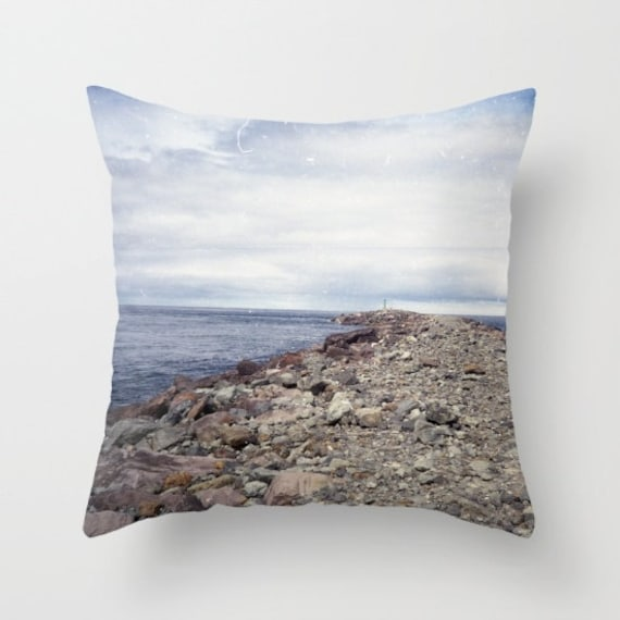 Beach pillow cover cover only ocean view by shelleyscrochetole for Sofa cushion covers made to order