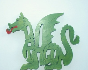 Dragon Toy Wood Puzzle Cut On Scroll Saw Woodworking