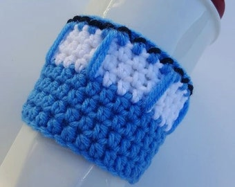 Cup Cozy, Dr. Who Inspired Cup Cozy, Tardis Inspired Cup Cozy, Cozy, Dr. Who, Tardis, Coffee Sleeve, Sleeve, Coffee, Tea, Tardis Cup Cozy