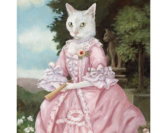 Cat Portraits, Canvas Prints, Lucy, Cat In Clothes Prints, Cat in Costume