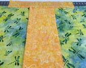 Indonesian Batik Fabric--REMNANT PIECES--Assorted Indonesian Batik Fabric--Assorted Colors--4 Irregular cut pieces--over 1 full yard