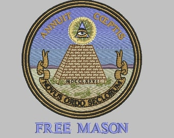 free mason embroidery design