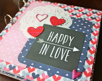 Love Scrapbook, Ready to Finish Scrapbook, Valentine Scrapbook, Mini Scrapbook