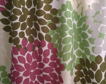 Shower Curtain Purple Green Custom Inspired Floral Standard And Long  Lengths 70, 74, 78