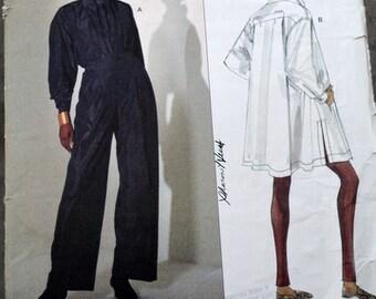 Uncut Issey Miyake Vogue Designer Top and Pants pattern, size 14