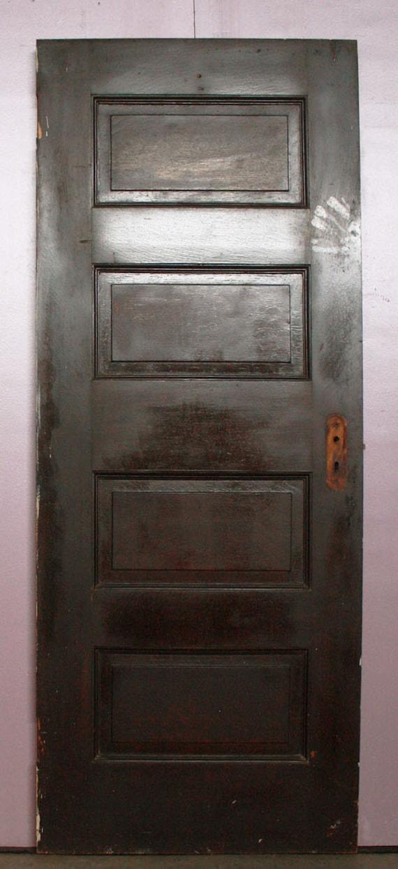 30 x74 antique interior solid wood wooden oak door 4 - Solid wood raised panel interior doors ...