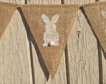 Easter Banner, PETER COTTONTAIL Bunny Bunting, Easter Bunny Garland, Easter Burlap Banner, Easter Decor, Easter Decoration, Photo Prop