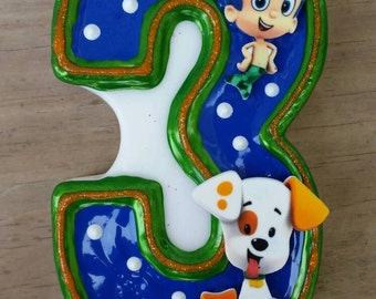 Bubble Guppies Birthday Candle