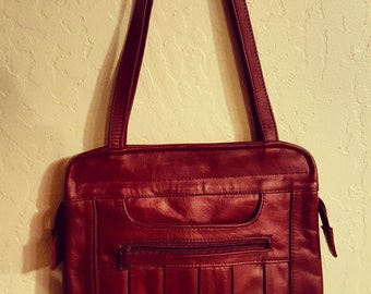 Ox Blood Leather 1970's Bag