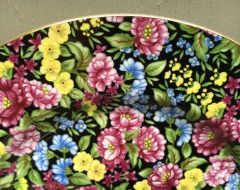 Bethany staffordshire CHINTZ floral porcelain luncheon plate 8-9""