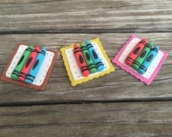 Crayon Cupcake Toppers