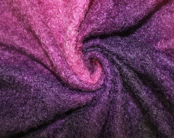Purple Ombre Wooly Knit Fabric by the yard style 6657