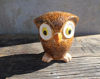 Vintage Wise Owl, Big Eyed Owl
