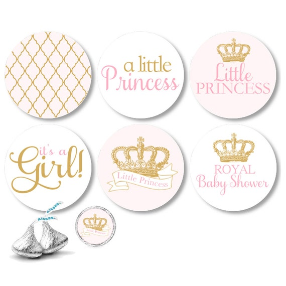 Little Princess Theme Stickers It 39 S A Girl For Hershey 39 S Kisses Chocolate Life Saver