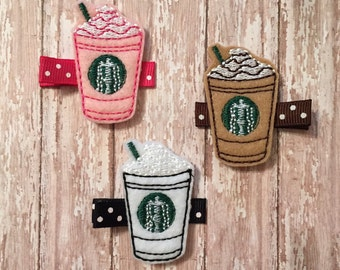 Starbucks Frappuccino Feltie Hair Clips