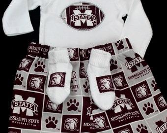 Ms State Bulldogs Boys Bodysuit set