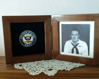 walnut or oak military frames - Military Picture Frames