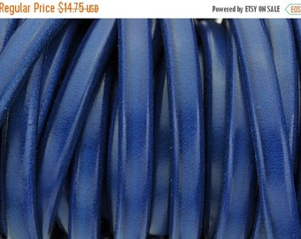 "up to 50% OFF 24"" Royal Blue Licorice Leather 10mm x 6mm - Thick Leather Cord"