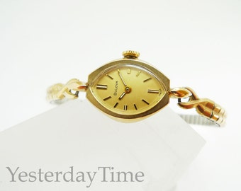Bulova Debut Women's Watch 1970 Rolled Gold Case Swiss Made Manual 17 Jewel Movement
