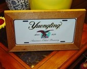 Yuengling Beer Logo Photo License Plate Bar Metal Sign Framed cedar