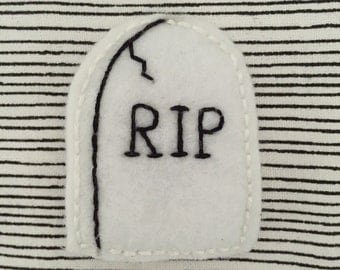 R.I.P. - Handmade Embroidered Felt Pin