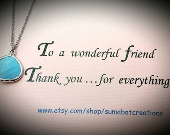 Birthday gift for a friend,Turquoise necklace,Mother's day gift for a friend,Gift for best friend,Turquoise jewelry,Friend,Gift for bff
