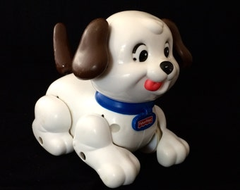 Vintage Fisher Price Dog Pull toy, Vintage Fisher Price, Vintage toys, retro toys, toddler toys  (AB6)
