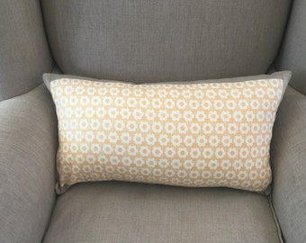 """Rectangle Cushion Cover in """"BOHO by Urban Chiks""""  for  MODA with an EST Linen Backing."""