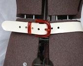 Patent Leather Belt - Vintage Belt - Wide Womens Belt - Vintage Leather Belt - Mod Retro Belt - Summer Accessory - 1960s Belt - Summer Belt