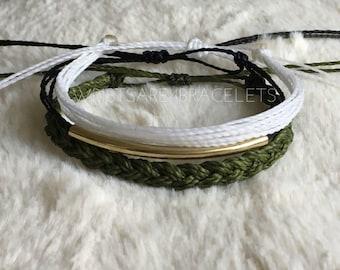 Multistrand Friendship Bracelet Set - Pure Vida Style Bracelets - Waterproof Friendship Bracelets