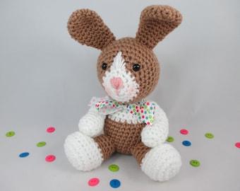 Crochet Easter Bunny Toy, Crochet Stuffed Bunny, Crochet Dutch Rabbit, Crochet Stuffed Animal by CROriginals