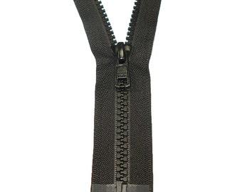 """5VS Open Black Vislon Finished Zipper - 30"""" - 34"""""""