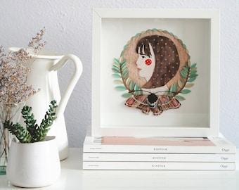 Custom Portrait - Paper Art Personalized Portrait