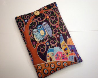 iPad mini case, Kindle paperwhite sleeve, Tablet cover, eReader sleeve, Kobo Touch case, Asus ZenPad sleeve, Owls tablet case