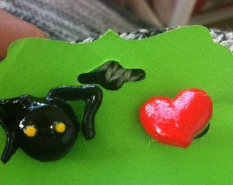Kingdom Hearts Heartless Inspired Earrings