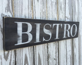 Bistro Sign, Color Options, Wood Sign, Reclaimed Wood Sign, Wood Bistro Sign, Farmhouse Sign, Fixer Upper sign