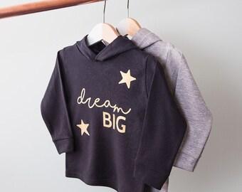 Personalised 'Dream Big' Children's Hoodie - Kids Hoodie - Kids Clothing - New Baby Gift - Baby Shower - Cute Baby Clothing - Trendy Toddler